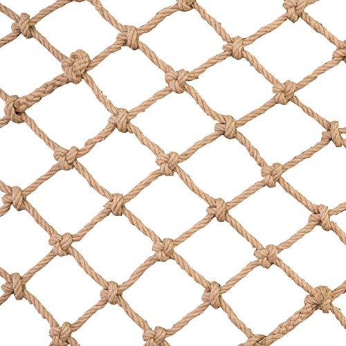FXPCYGZ Kletterseil Net, Kinder Treppen Balkon Sicherheitsnetz Innen- und Außen Geländer Safety Net Zaun-Netz-Katze Netz hängende Retro Bar Dekoration Net Hanging(3 * 4m(10 * 13ft))