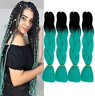 GX Beauty Kanekalon Ombre Braiding Hair Jumbo Braid Hair Extensions 24Inch Synthetic Heat Resistant Fiber for Box Braiding Hair(M14)