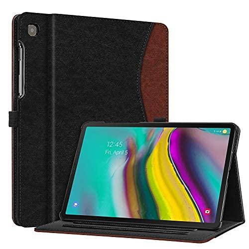 Funda para Samsung Galaxy Tab S5e 10.5 2019 Modelo SM-T720/T725/T727, multiángulo de visualización con función de apagado automático, color morado