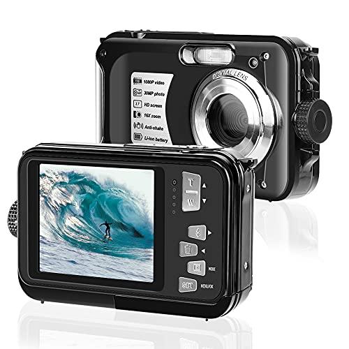 Camara Acuatica Camara de Fotos Acuatica 2.7K Full HD 30MP, Cámara Digital con Zoom Antivibración