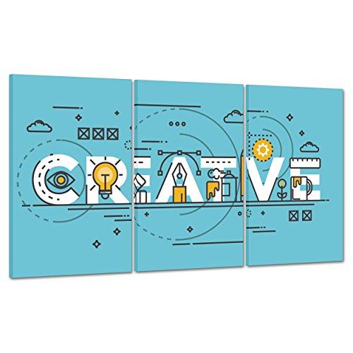 ConKrea Quadro su Tela Canvas - INTELAIATO - Pronto da Appendere - Motivazionale - Idee Idea Psicologia - Marketing - 100x50cm (cod.2240)