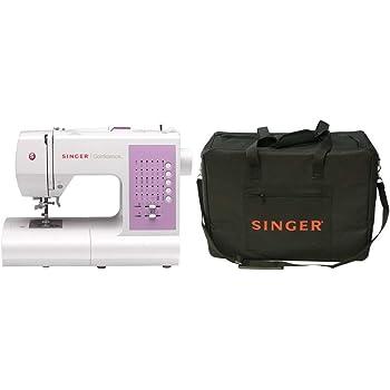 Singer 7463 Confidence Máquina de Coser, Blanco + Funda para máquina de coser, color negro: Amazon.es: Hogar
