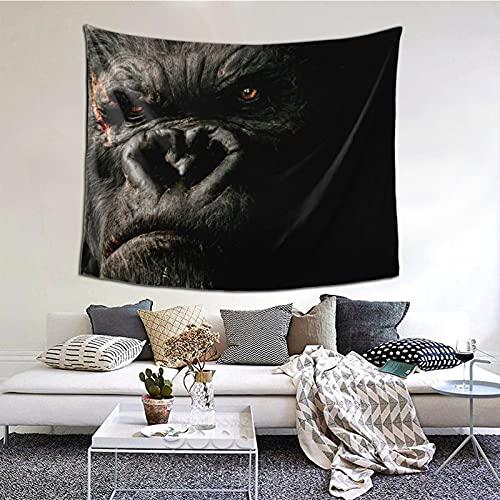 K-in-g K-o-ng - Tapiz de película para decoración de pared, manta para sala de estar, dormitorio, dormitorio 156 x 150 cm