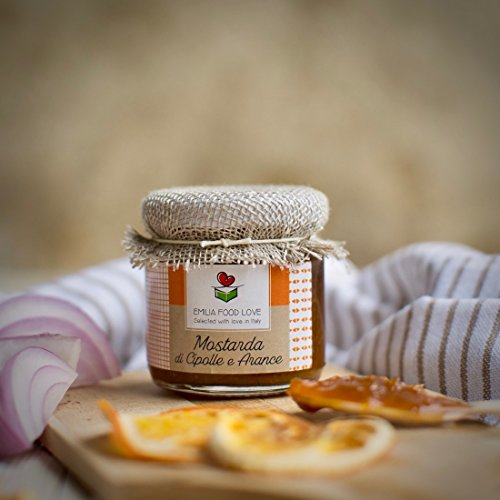 Mostarda di Cipolle e Arance - Composta 100% Made in Italy - EMILIA FOOD LOVE Selected with love in Italy - 106 gr