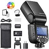 Godox V860III-N - Flash para cámaras Nikon (76 W, 2,4 G, HSS 1/8000s, con luz Ajustable de 10 velocidades, batería de Litio de 7,2 V/2600 mAh, Incluye difusor, Filtro de Color, minisoftbox