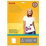 "Kodak Inkjet T-Shirt Transfer Paper A4 5 Sheets Light 11.7"" X 8.3"""