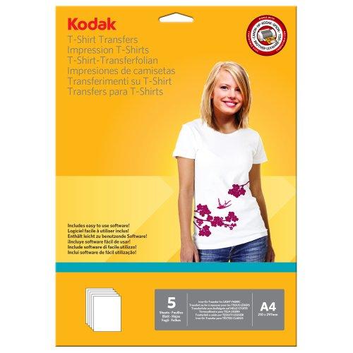 Papel Transfer para Camiseta Clara - 5 Folhas - Kodak