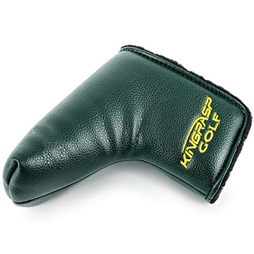 wujiang Golf Putter Head Cover PU Leather T Word Headcover Fits All Brands Men Women (Green)