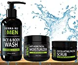 Best Anti Aging Face Washes - All-In-One Anti Aging Daily Skincare Set for Men Review