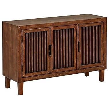Stone & Beam Fremont 3-Door Cabinet, 47.4  W, Ash