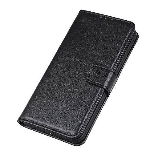GOGME Hülle für Oppo A53s, Premium Leder Flip Schutzhülle Magnetic Snap mit [Kartenfächer/Ständer Funktion] Brieftasche Handyhülle Stoßfest Hülle, Schwarz