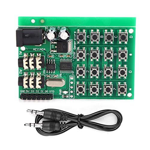 Módulo Generador De Audio, Placa Generadora DTMF Placa Transmisora de Codificación Doble De 5~24 V CC Con Dos Conectores De Audio De 3,5 Mm AE11A04 Para Teclado De Marcación Interfaz MCU