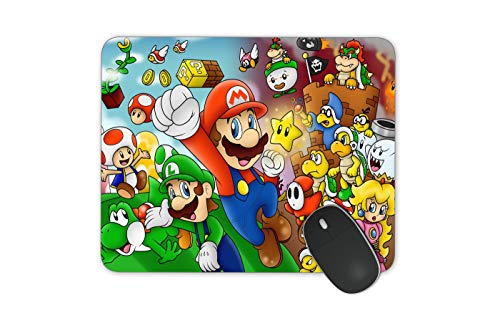 JNKPOAI Cute Super Mario Print Mouse Pad Personalized Design of Office Game Mouse Pad Cartoon Mouse Pad with Clear Design (Super Mario#3)
