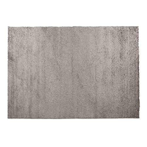 Designer-Teppich Pastell Kollektion | Flauschige Flachflor Teppiche fürs Wohnzimmer, Esszimmer, Schlafzimmer oder Kinderzimmer | Einfarbig, Schadstoffgeprüft (Grau Braun, 120 x 170 cm)
