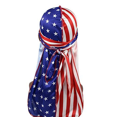Planuuik Unisex Silky Durags Grappige Dollar Amerikaanse vlag Print Bonnet Hat Pirate Cap
