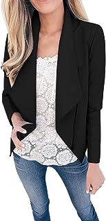 Lazzboy kvinnor blazer kappa avslappnad vattenfall krage solid slag passform tunika mode kort jacka cardigan
