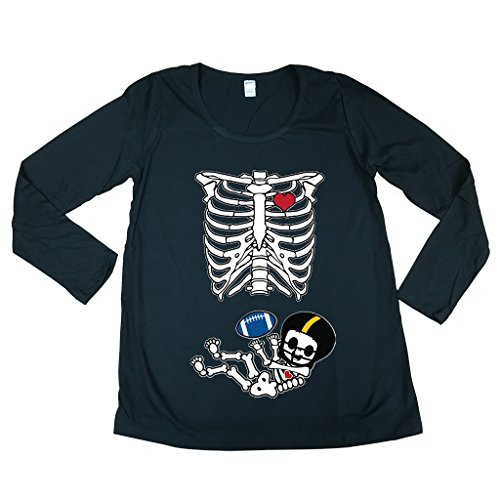 Long Sleeve Baby Skeleton Pittsburgh Football Mom Fan...