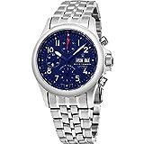 Revue Thommen Air Speed Pilot 41mm Herren blau Zifferblatt Edelstahl Automatik Chronograph Tag Datum Schweizer Uhr 17081.6139