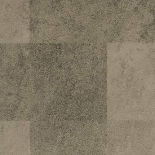 BODENMEISTER BM70400 Vinylboden PVC Bodenbelag Meterware 200, 300, 400 cm breit, Steinoptik Fliesenoptik hell-grau