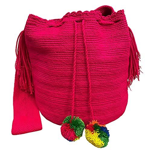 Ancdream Mochila Wayuu Bolsas Crochet Tejidas Hechas A Mano Auténticas Bolsas Boho Colombianas Clásicas, Color 44#