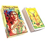 LHJY 78 Piezas Nueva Carta De Tarot, Cartas De La Rueda del Año, Inglés, Baraja Misteriosa, Juegos De Cartas para Fiestas Familiares, Juegos De Cartas (5 Juegos)