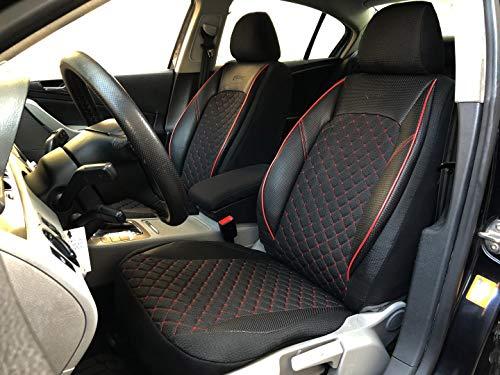 seatcovers by k-maniac Ford Ecosport universali, Nero e Rosso, Set di coprisedili Anteriori e Accessori Interni Auto V1204868