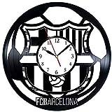 Wanggang Arte FC Barcelona Disco de Vinilo Reloj de Pared Retro Cumpleaños Año Nuevo Regalo de cumpleaños de Navidad Personalidad Creativa decoración de la Pared del diseño del hogar