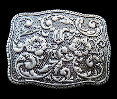 Grey cheap Flowers Western Cowgirl Buckle Antique Belt Silver National products