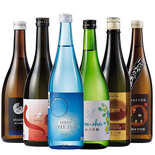 ワイングラスで飲む純米大吟醸6蔵第2弾 プレゼント 日本酒 人気 お酒 飲み比べ 父の日 ギフト プレゼント 純米大吟醸 ベルーナ ベルーナグルメ