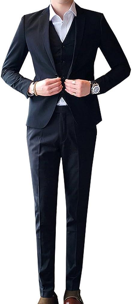 S&S Men's Modern Fit Suits 3-Piece One Button Blazer Jacket Tux Vest & Trousers
