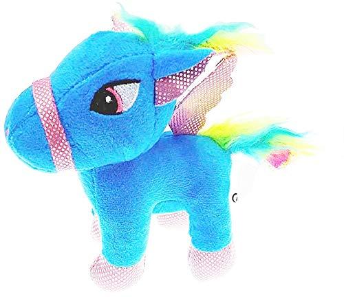 Llavero Unicornio - Felpa - gangio - Color Azul - Idea de Regalo de cumpleaños