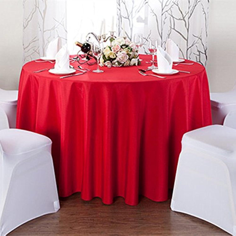 BlauLSS Bunte runde Tischdecke Tischdecke aus Polyester weien Leinentüchern für Hochzeiten dekorative Home Hotel Restaurant Dekorationen V20, rot, 340 CM