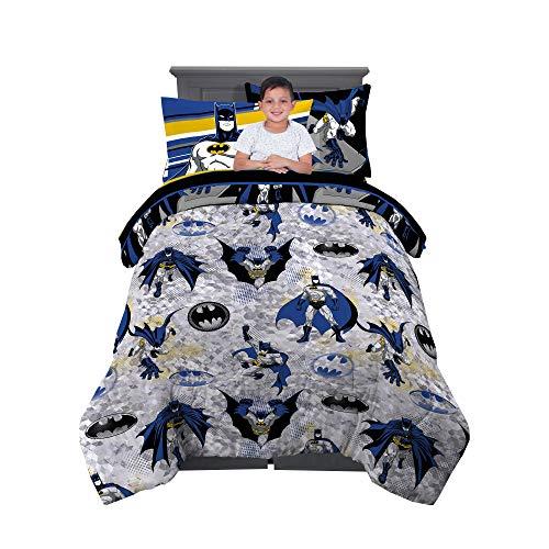 Franco Kids Bedding Super Soft Comforter and Sheet Set with Sham, 5 Piece Twin Size, Batman