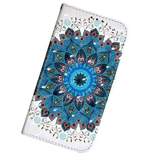 UrHause Compatible with Huawei Honor 20 Pro, 3D Painted Patterned Leather Mobile Phone Case, Smooth Surface, Anti-Drop, Magnetic Closure Flip Case Cover with Lanyard