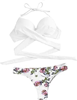 Abito da Spiaggia con Volant Girasole Koojawind Costume da Bagno Monokini Bikini Girocollo Premaman da Spiaggia Premaman