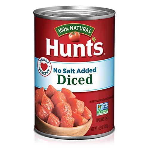 Hunt's Diced Tomatoes No Salt Added, Keto Friendly, 14.5 oz, 12 Pack