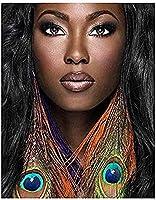 NYIXIA 油絵 数字キットフレーム付き 、アフリカの女性、による 絵画 塗り絵 手塗り DIY絵、初心者 子供と大人 人気 キャンバス 油絵 の具 40x50cm