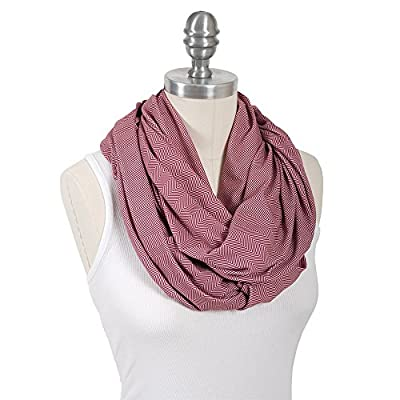 Bebe au Lait Premium Jersey Nursing Scarf, Lightweight and Breathable Cotton, One Size Fits All - Marsala