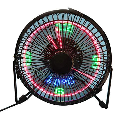HUIJUTB Ventilador con Tiempo De Temperatura, LED Portátil LED Mini Reloj USB Pequeño Ventilador, Oficina En El Hogar Fan De Refrigeración Especial,Diameter 13cm