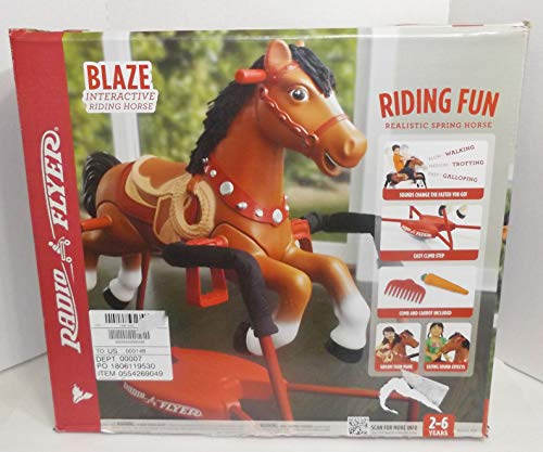 Carrot Activates Chewing Sounds, Blaze Interactive Spring Horse Ride-On, Brown