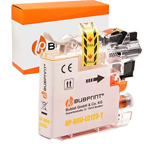 Bubprint Kompatibel Druckerpatrone als Ersatz für Brother LC-123Y LC123Y für DCP-J132W MFC-J4510DW MFC-J470DW MFC-J6520DW MFC-J6720DW MFC-J6920DW MFC-J870DW Gelb