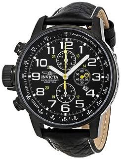 3332 Men's I-Force Chronograph Black Leather