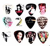 set de 12 x famoso álbum cubierta guitarra Picks púas Set B