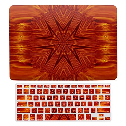 For MacBook Air 13 13 Inch Case A1466、A1369 Hard Shell Cover for MacBook Air 13 Case & Keyboard Cover, Fire Flowers-300 Laptop Protective Shell Set
