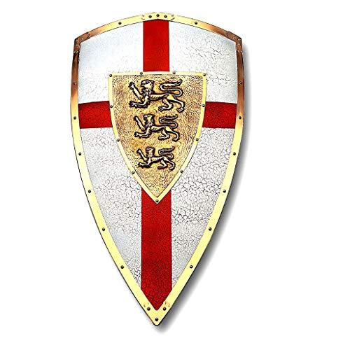 Escudo de Ricardo Corazón de León. Réplica en Metal Decorado del Escudo Que usaba en la Tercera Cruzada.