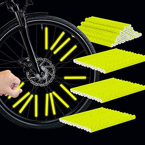 GUBOOM Speichenreflektoren Fahrrad, 39 Stück Fahrrad Reflektoren für speichen, speichen Reflektor Sticks, fahrradreflektoren speichen, Reflektor speichen, speichenreflektoren Gelb