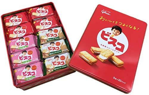 グリコ ビスコ ギフト缶 100枚入り ( 5枚×20個 )
