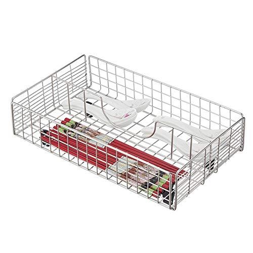 LOCGFF Schubladen Ordnungssystem Küche Besteck Mit 2 Bis 4 Fächern Stainless Steel Rahmen Für Messer/Gabel/löffel/Essstäbchen Schubladen (Size : A)