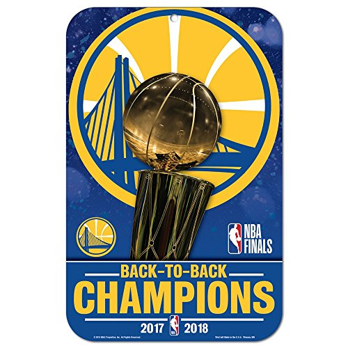 Wincraft NBA Golden State Warriors 2018 Champions Sign 11 x 17 Inch