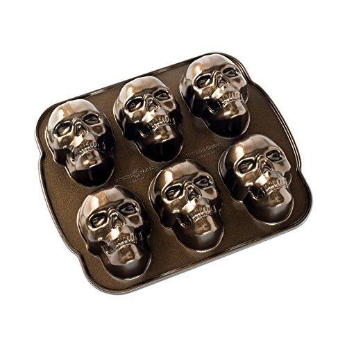 Nordic Ware Haunted Skull Cakelet Pan, Bronze by Nordic Ware